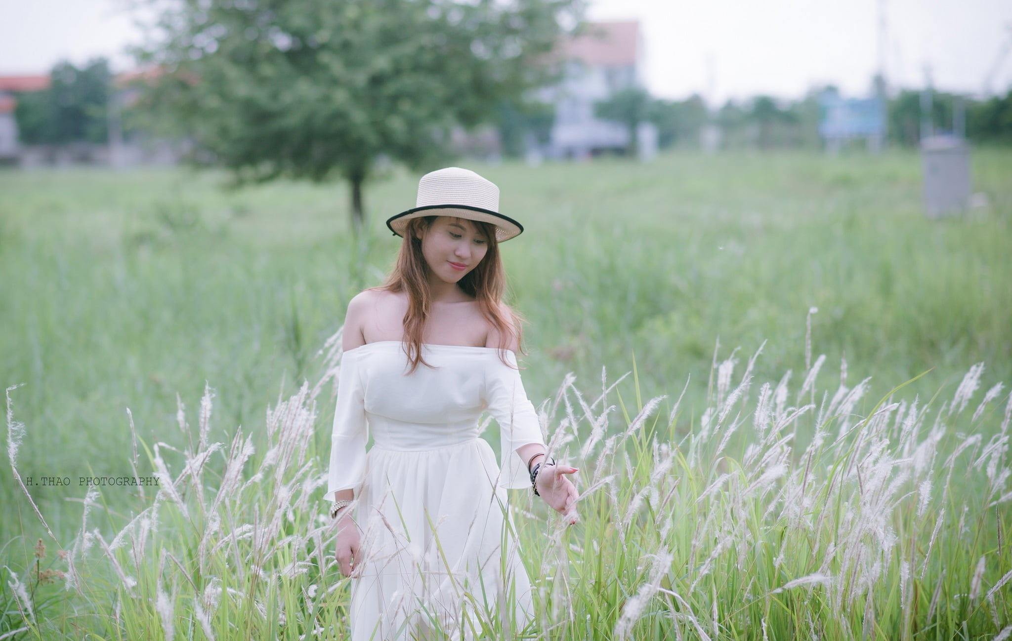 Be Dinh 3 - Ảnh chụp với cỏ lau Đảo Kim Cương, Quận 2