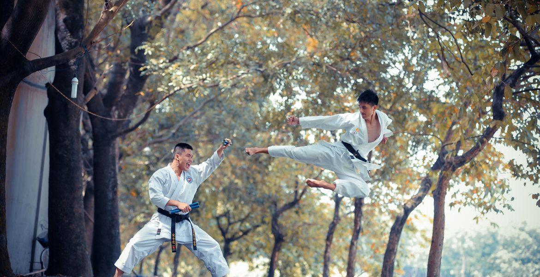Chụp ảnh võ thuật ở KDL Thủy Châu