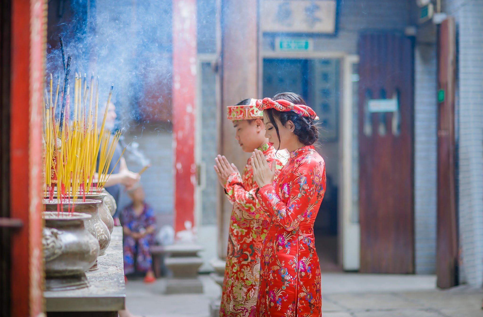 ảnh chụp tại chùa bà thiên hậu