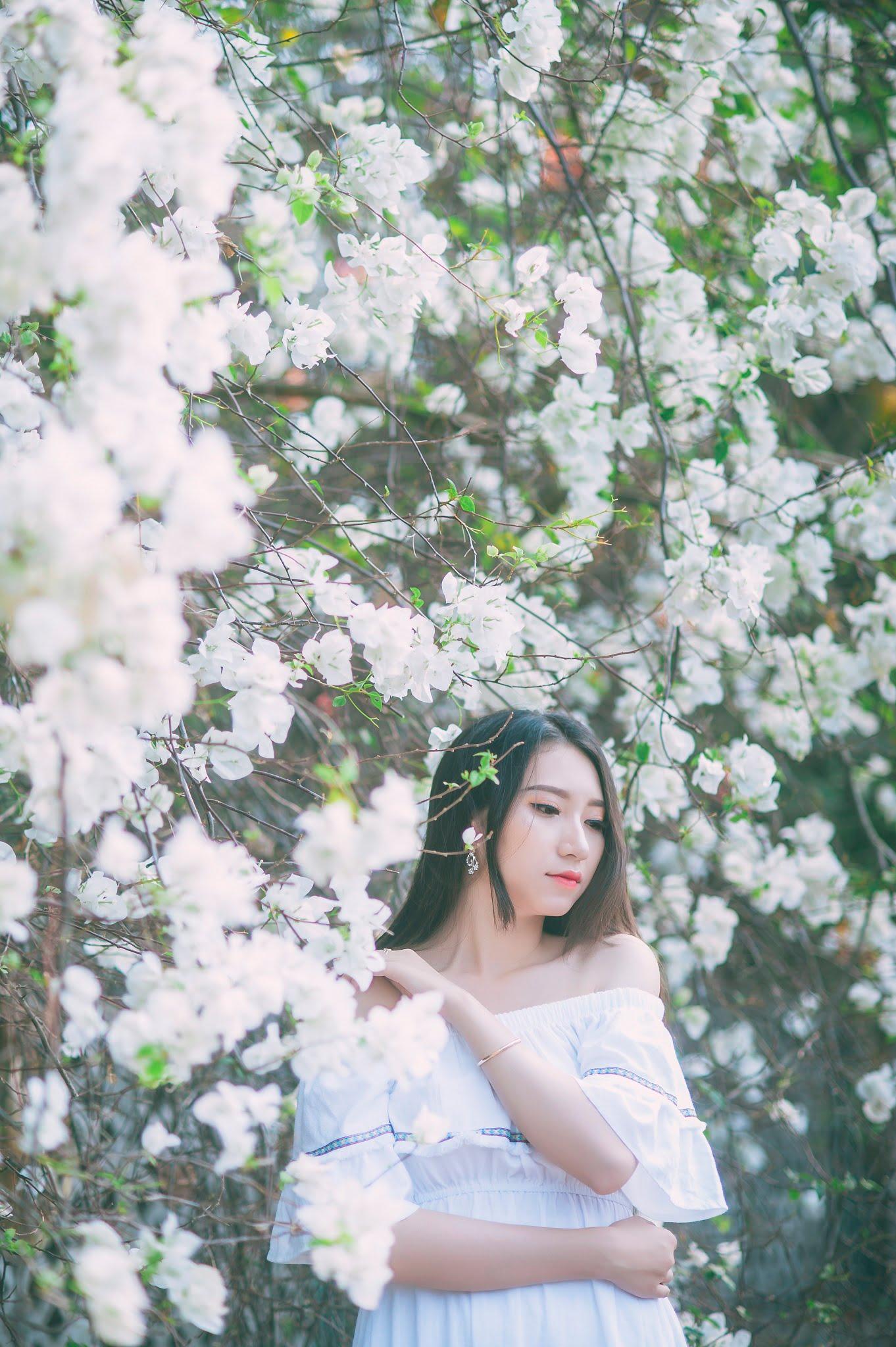 anh chup hoa giay 1 - Ảnh chụp với hoa giấy quận 2 - Huỳnh Như