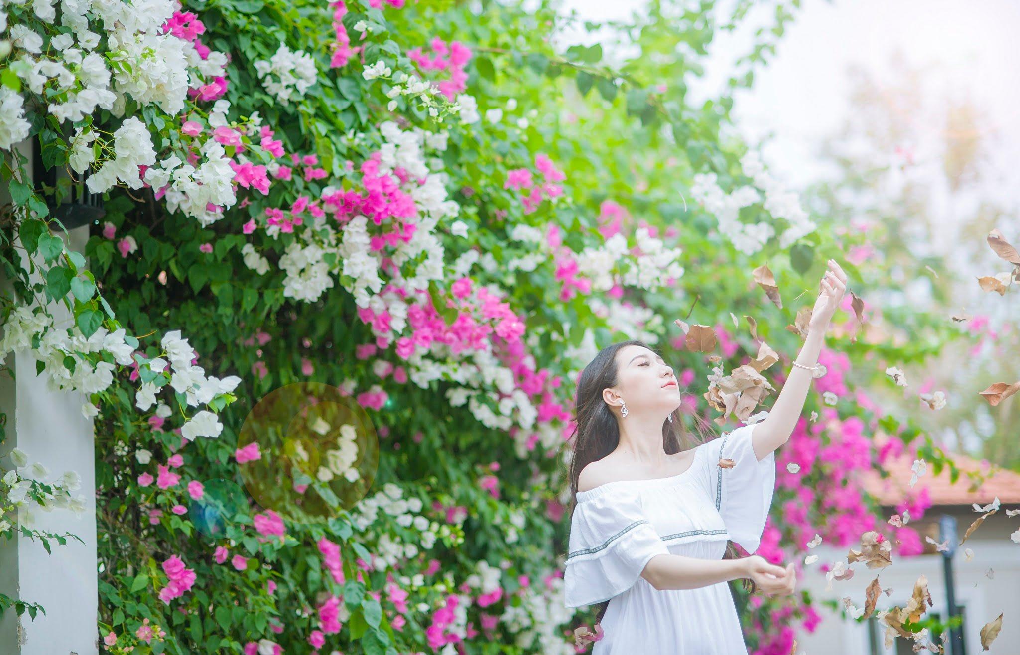 anh chup hoa giay 11 - Ảnh chụp với hoa giấy quận 2 - Huỳnh Như
