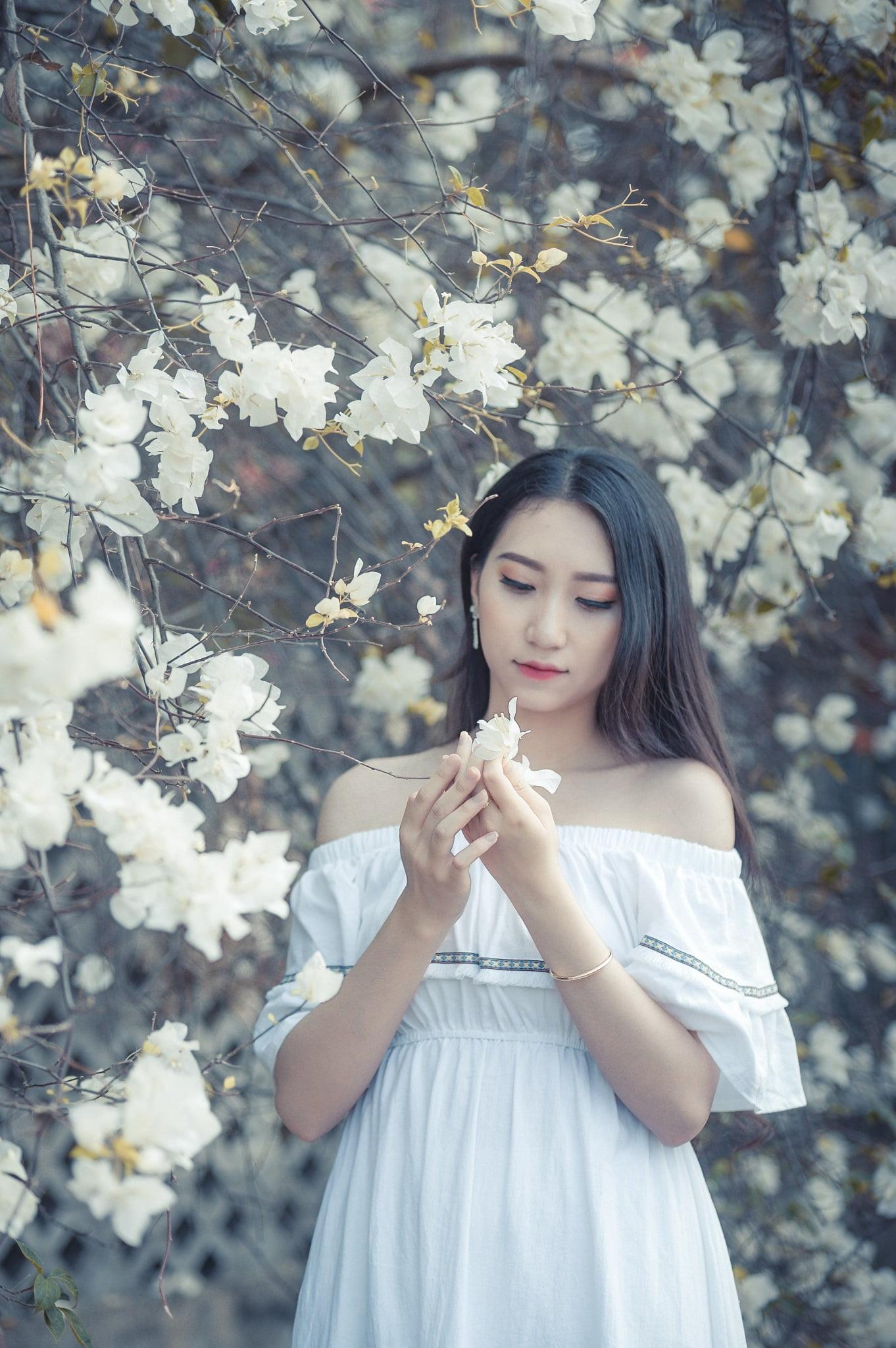 anh chup hoa giay 7 - Ảnh chụp với hoa giấy quận 2 - Huỳnh Như