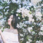 Ảnh chụp với hoa giấy quận 2 – Huỳnh Như