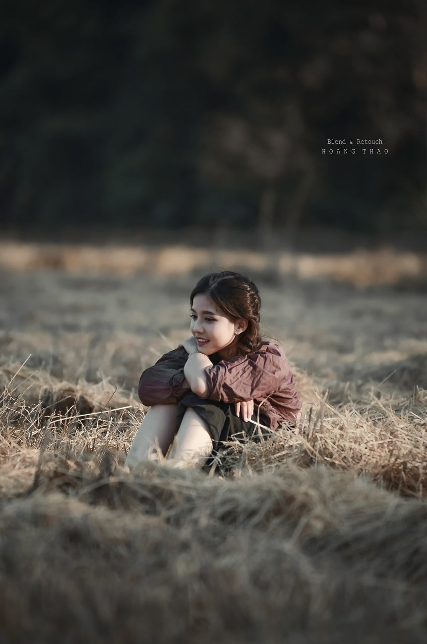 MRK 1658 - [Blend & Retouch] Em gái trên cánh đồng chiều quê