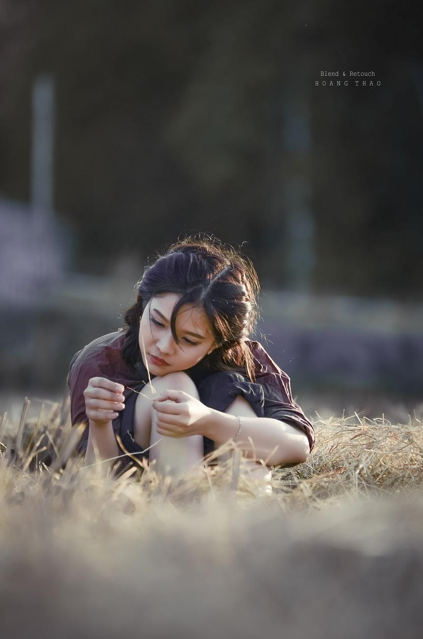 MRK 1676 - [Blend & Retouch] Em gái trên cánh đồng chiều quê