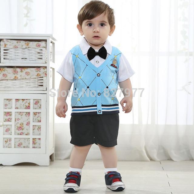 Most popular England Style 0 1 2 years old children clothes summer fashion baby boy clothing.jpg 640x640 - Gợi ý thời trang kiểu tây cho bé