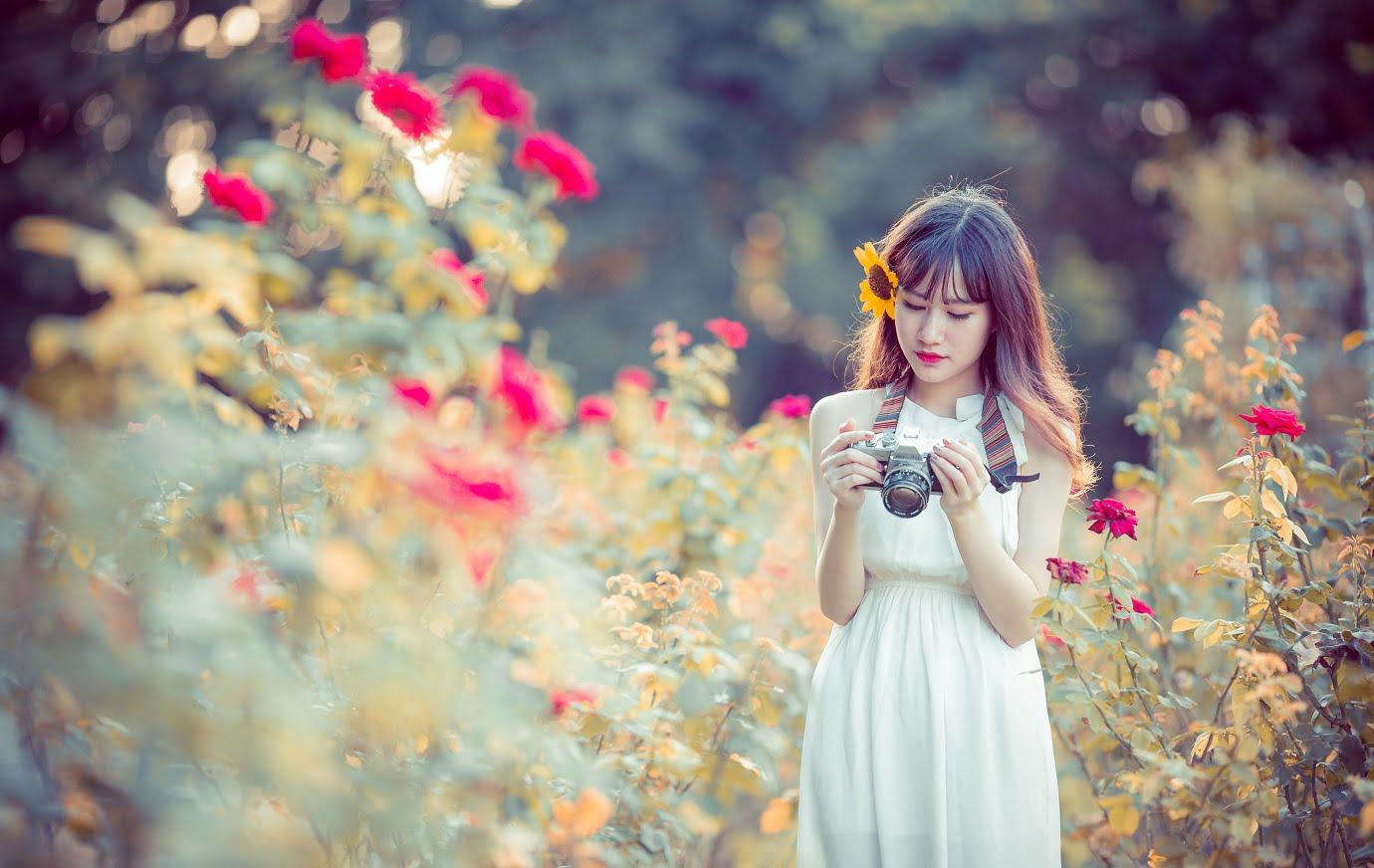 anh chup hoa hong 1 - [Br-Art] Cô bé bên vườn hoa hồng nhỏ