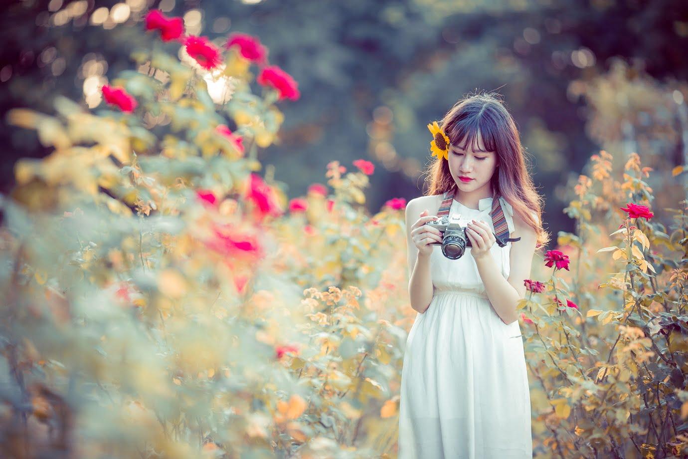 anh chup hoa hong 2 - [Br-Art] Cô bé bên vườn hoa hồng nhỏ
