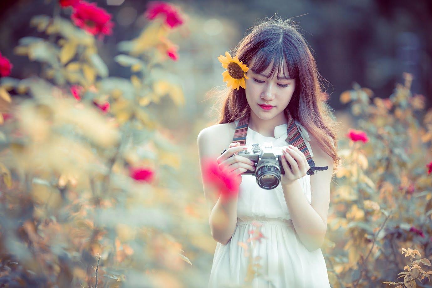 anh chup hoa hong 3 - [Br-Art] Cô bé bên vườn hoa hồng nhỏ