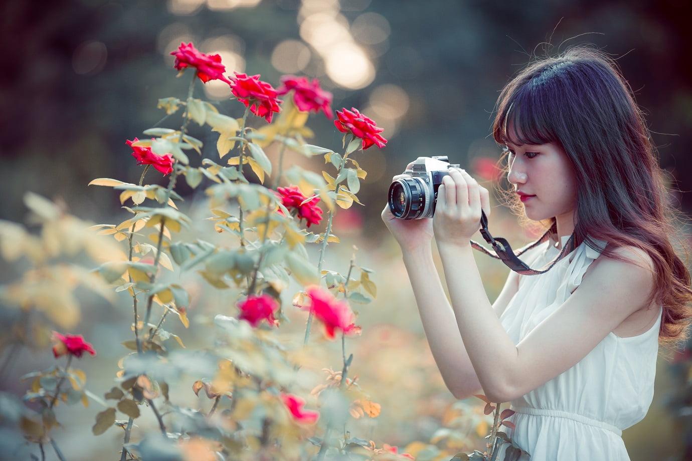 anh chup hoa hong 4 - [Br-Art] Cô bé bên vườn hoa hồng nhỏ