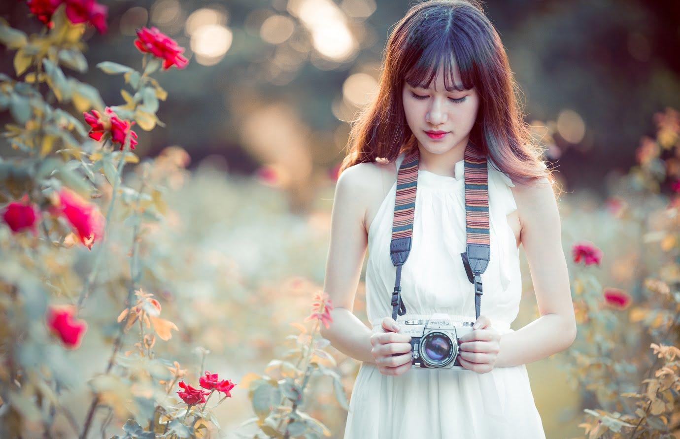 anh chup hoa hong 5 - [Br-Art] Cô bé bên vườn hoa hồng nhỏ