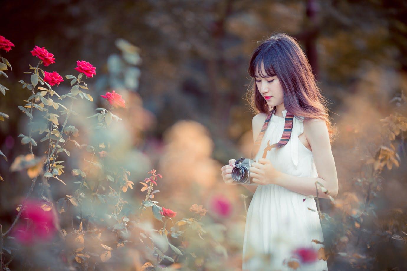 anh chup hoa hong 6 - [Br-Art] Cô bé bên vườn hoa hồng nhỏ