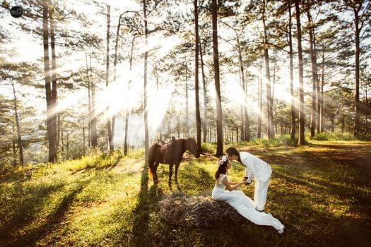 anh cuoi ngoai canh 4 525x350 - Top 4 phong cách chụp ảnh cưới hot nhất hiện nay