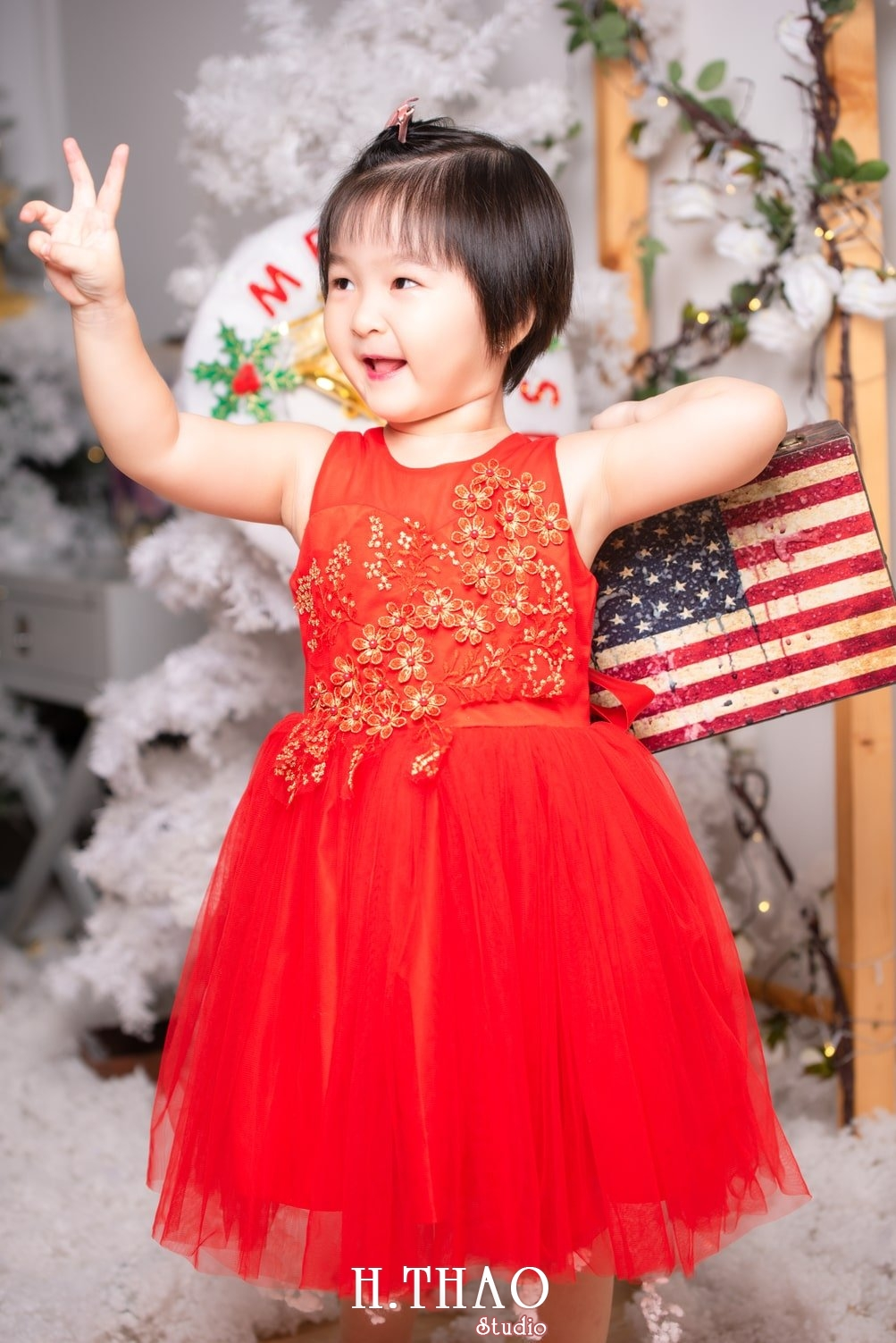 Anh be noel 23 - Album ảnh noel chụp cho con gái cưng chị Linh - HThao Studio
