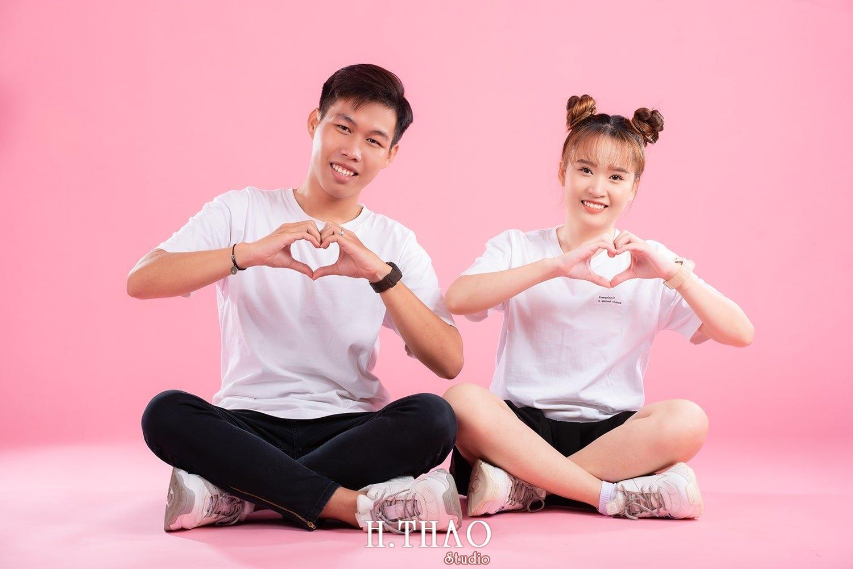 Anh couple 15 - Album ảnh couple siêu nhí nhảnh chụp trong studio - HThao Studio