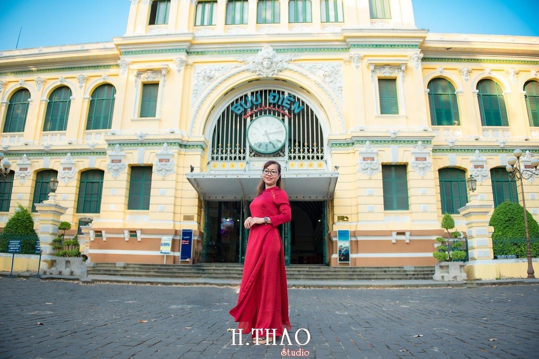 Ao dai 1 2 - Tổng hợp album ảnh áo dài chụp tại nhà thờ Đức Bà - HThao Studio