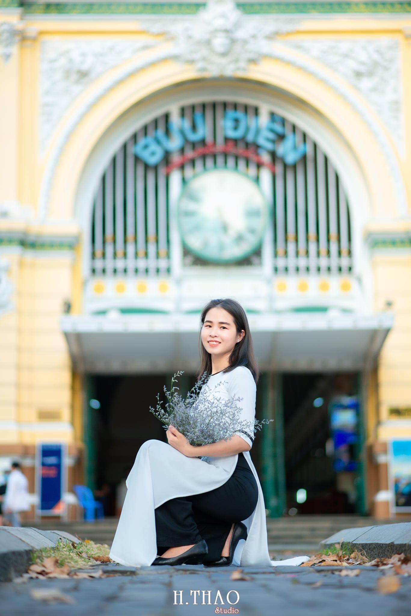 Ao dai 3 1 - Tổng hợp album ảnh áo dài chụp tại nhà thờ Đức Bà - HThao Studio