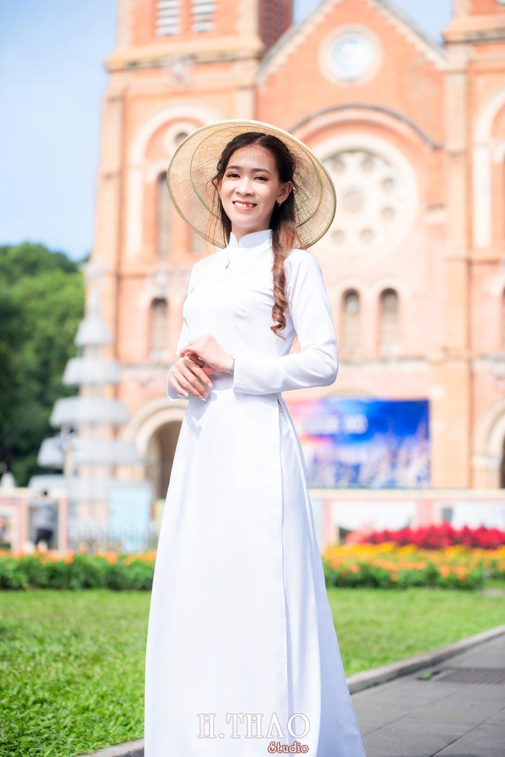 Ao dai nha tho duc ba 11 - Báo giá chụp ảnh áo dài trọn gói tại Tp.HCM - HThao Studio