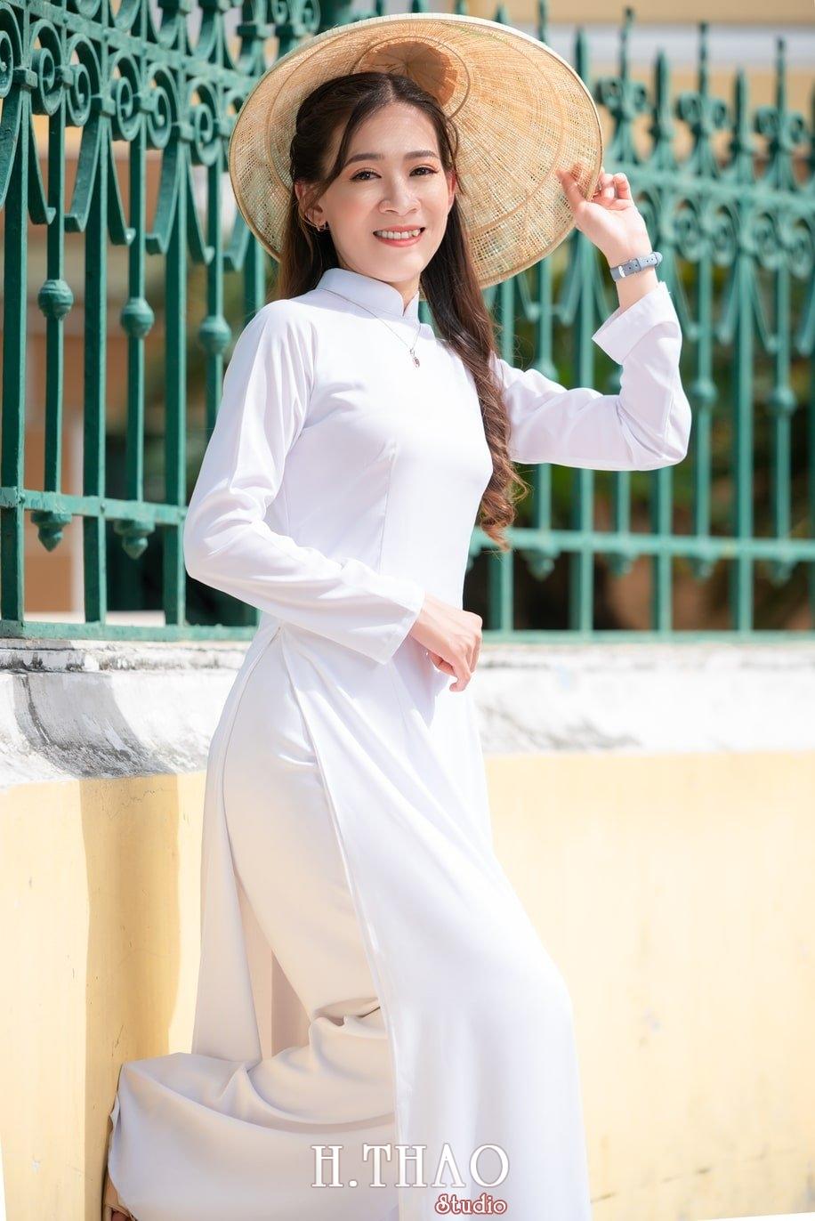 Ao dai nha tho duc ba 12 - Tổng hợp album ảnh áo dài chụp tại nhà thờ Đức Bà - HThao Studio
