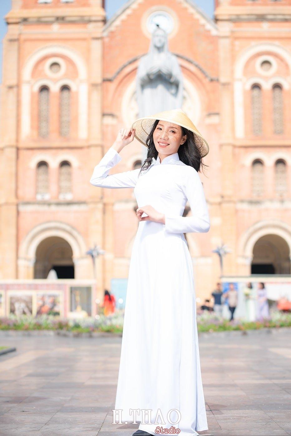 Ao dai nha tho duc ba 20 - Báo giá chụp ảnh áo dài trọn gói tại Tp.HCM - HThao Studio