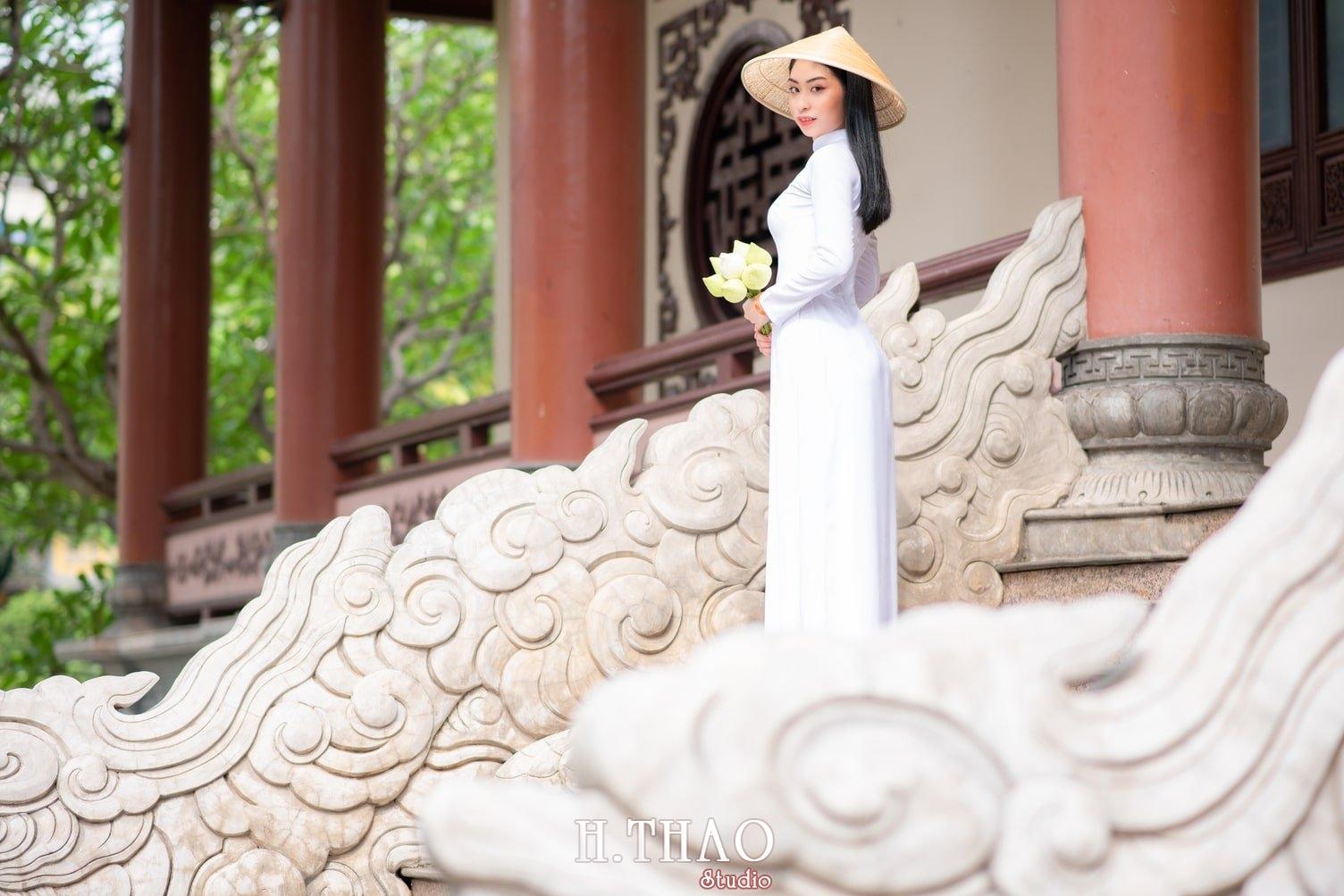 Ao dai trang 10 - Album áo dài trắng tại Thiền Viện Vạn Hạnh - HThao Studio