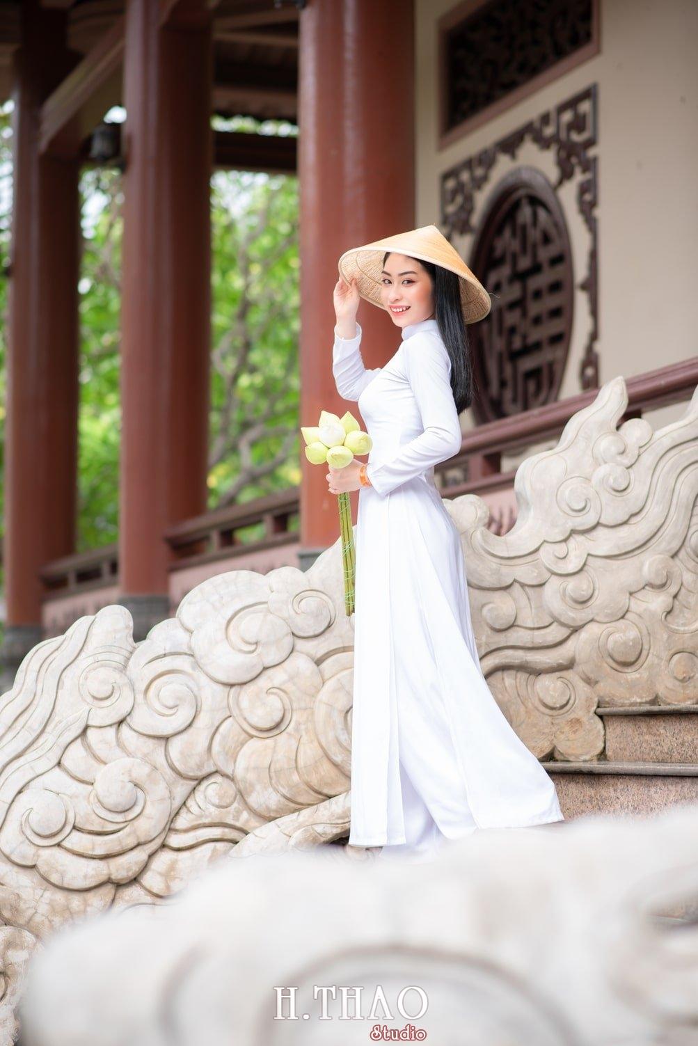 Ao dai trang 12 - Album áo dài trắng tại Thiền Viện Vạn Hạnh - HThao Studio