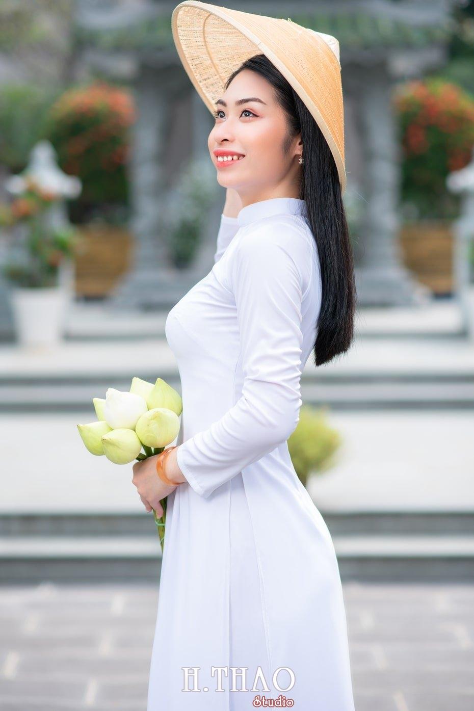 Ao dai trang 16 - Album áo dài trắng tại Thiền Viện Vạn Hạnh - HThao Studio