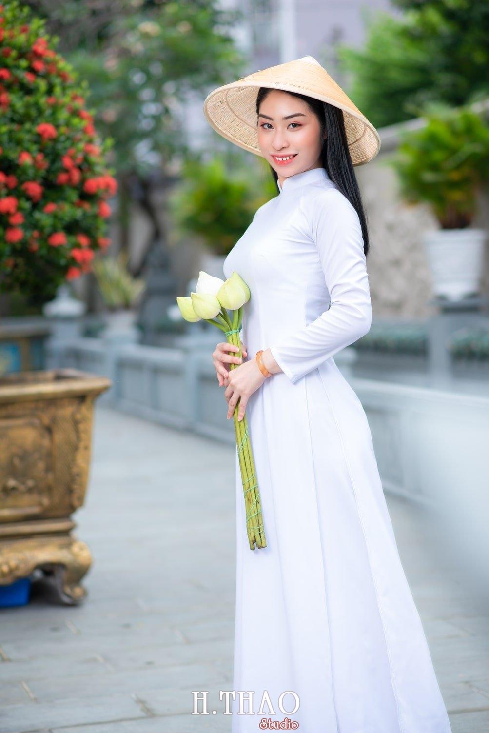 Ao dai trang 2 - Album áo dài trắng tại Thiền Viện Vạn Hạnh - HThao Studio