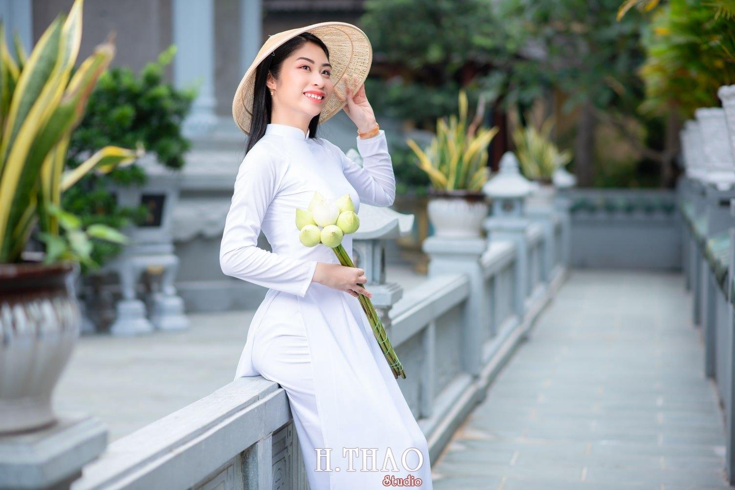 Ao dai trang 4 - Album áo dài trắng tại Thiền Viện Vạn Hạnh - HThao Studio
