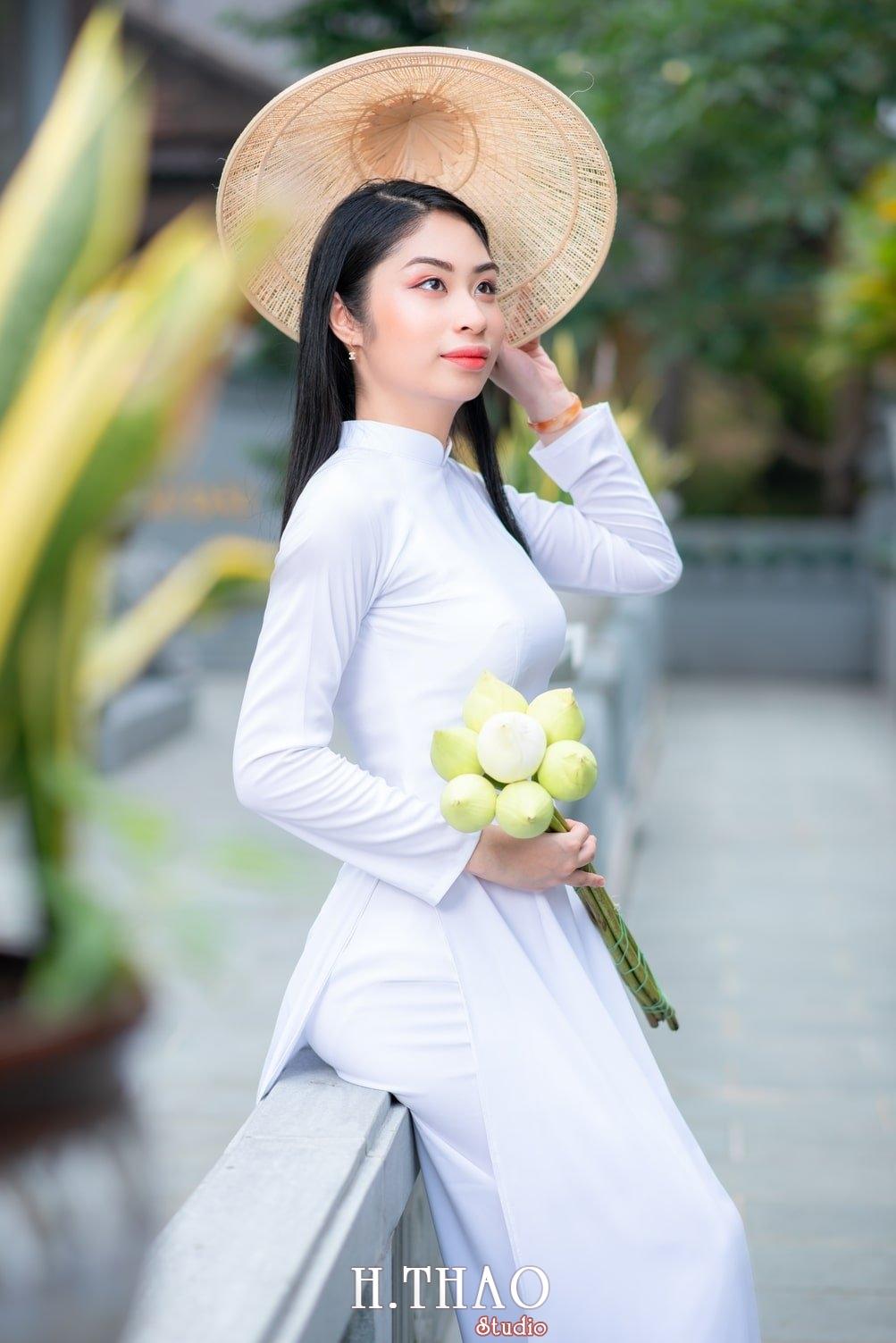 Ao dai trang 5 - Album áo dài trắng tại Thiền Viện Vạn Hạnh - HThao Studio