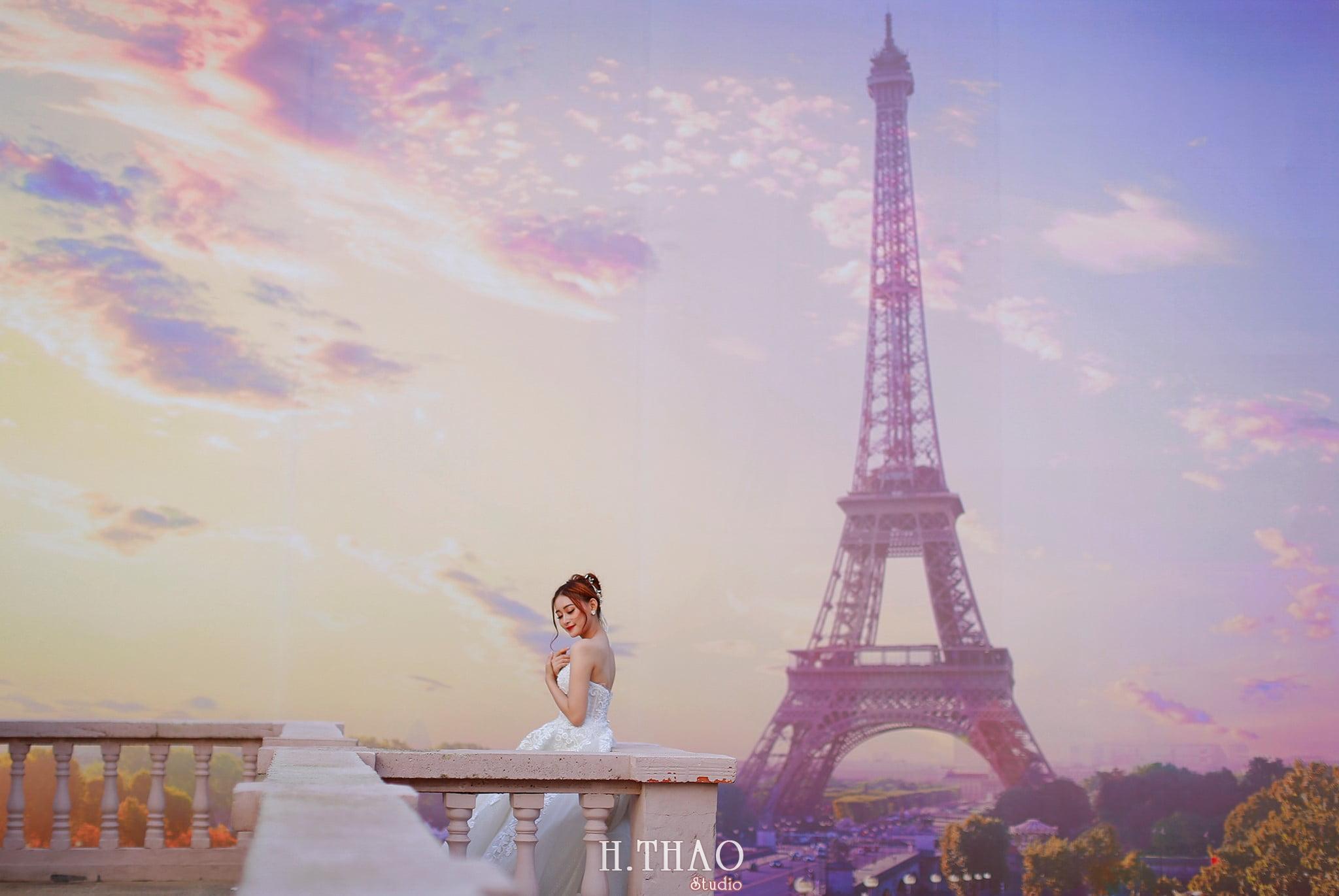 Anh cuoi 27 - Bộ ảnh cưới cô dâu đơn tuyệt đẹp tại phim trường paris- HThao Studio