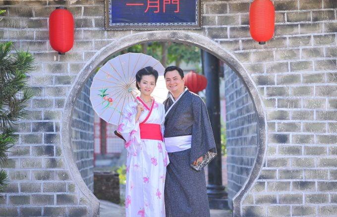 ảnh chụp với kimono đẹp