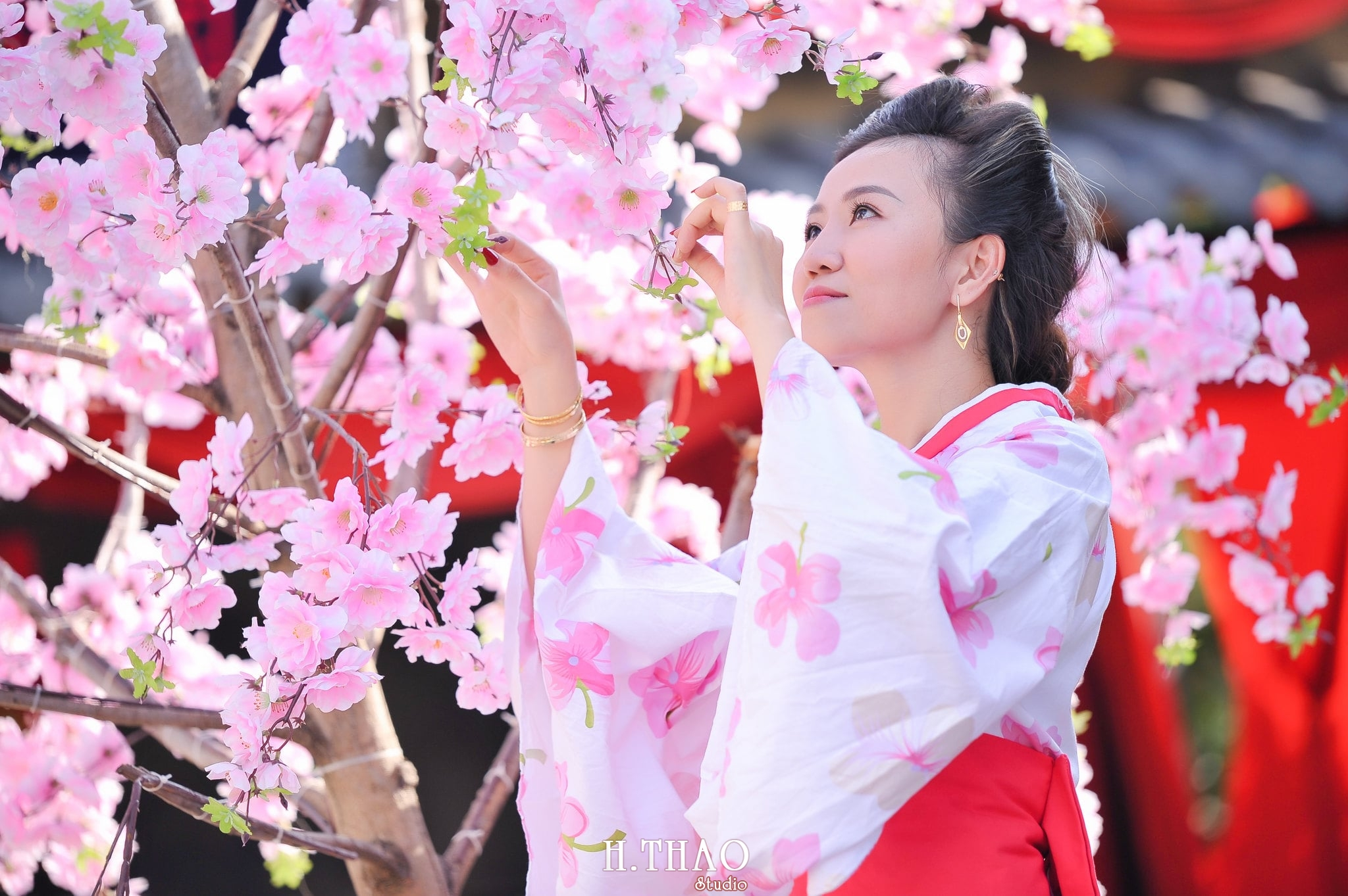chùm ảnh chụp với kimono