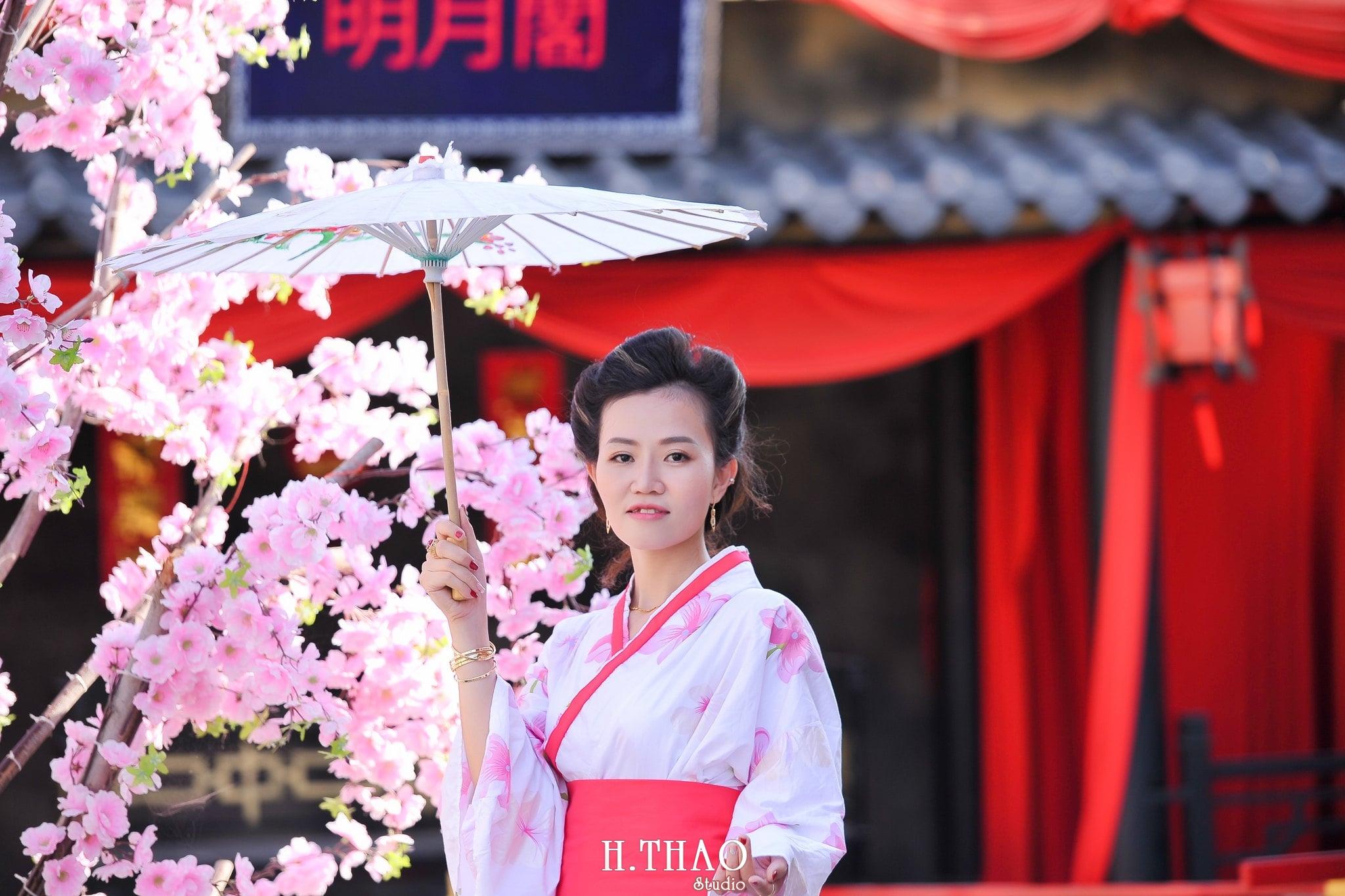 chụp hình kimono dễ thương