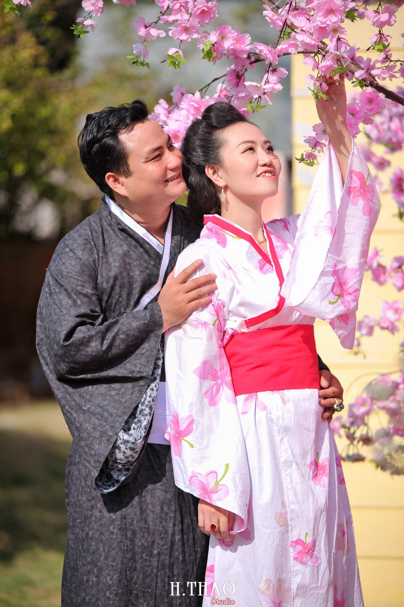 chụp ảnh couple với kimono