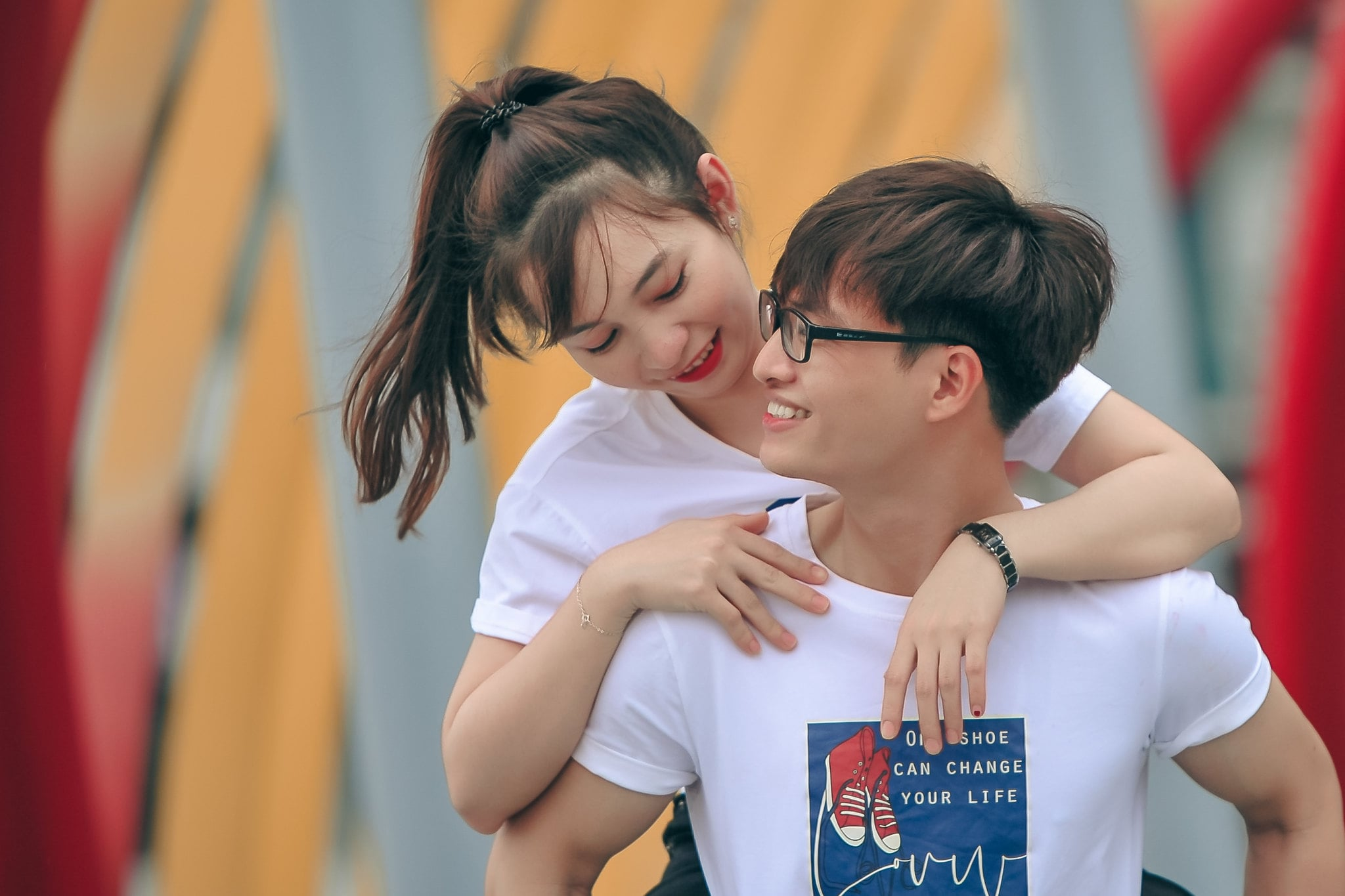 Anh couple sieu de thuong 8 - Chụp ảnh Couple dễ thương tại thành phố Hồ Chí Minh