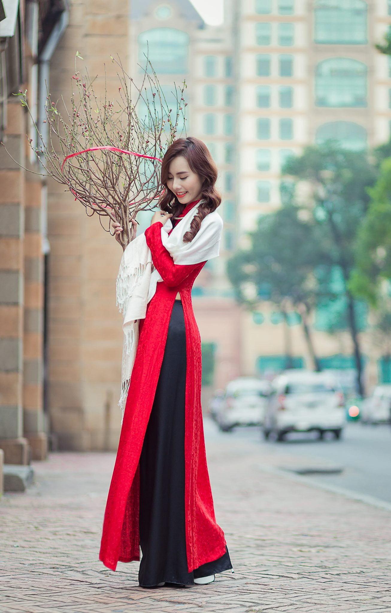ảnh áo dài đẹp lung linh