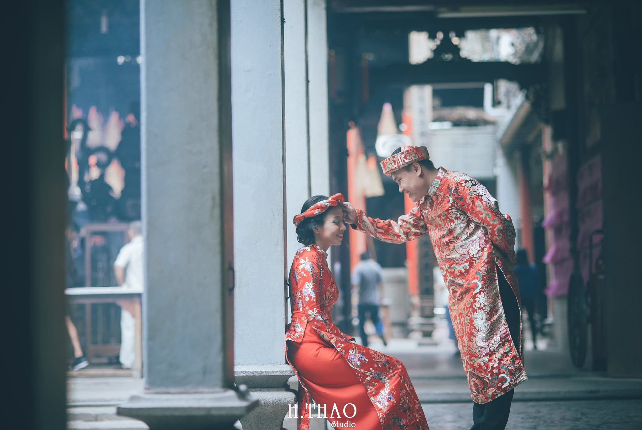 ảnh couple ở chùa bà thiên hậu