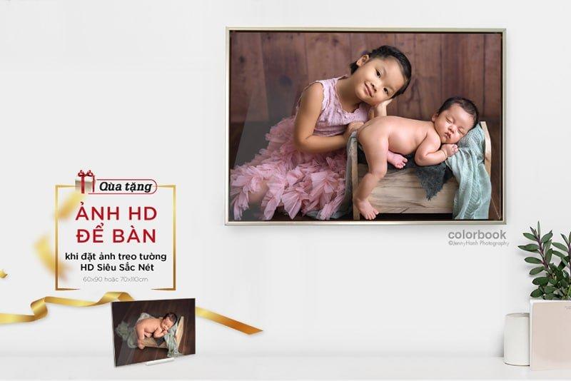 tranh treo tuong qua tang mail - Studio chụp ảnh cho bé đẹp nhất ở Tp.HCM - HThao Studio
