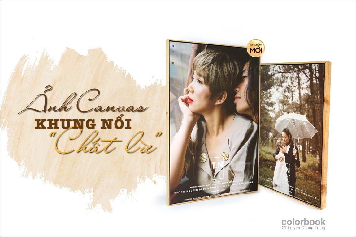 Anh Canvas khung noi 1 min - Sản phẩm ảnh treo tường, ảnh để bàn, ảnh album từ HThao Studio
