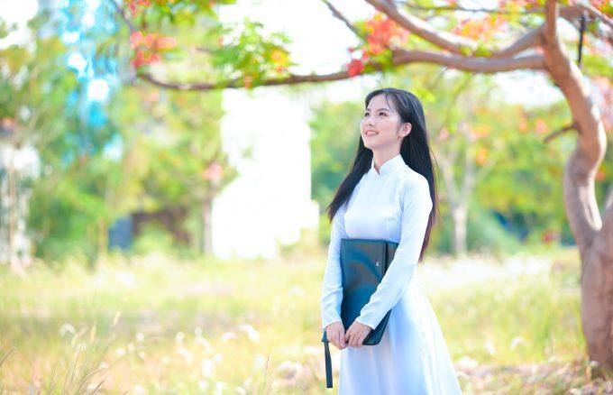 áo dài hoa phượng
