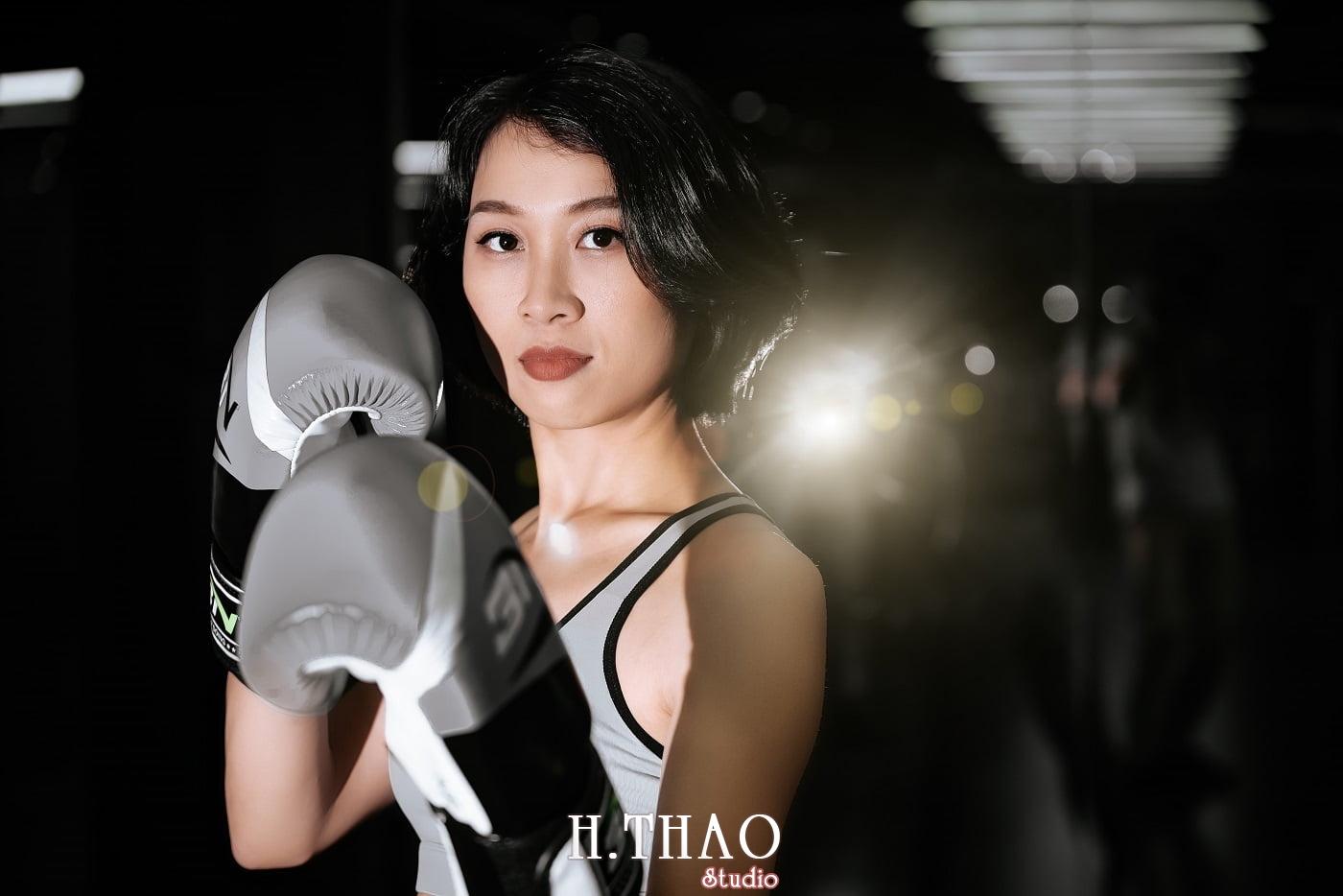 Anh chi Ngoc 2 min - Góc ảnh cô gái mạnh mẽ yêu thích Boxing – HThao Studio