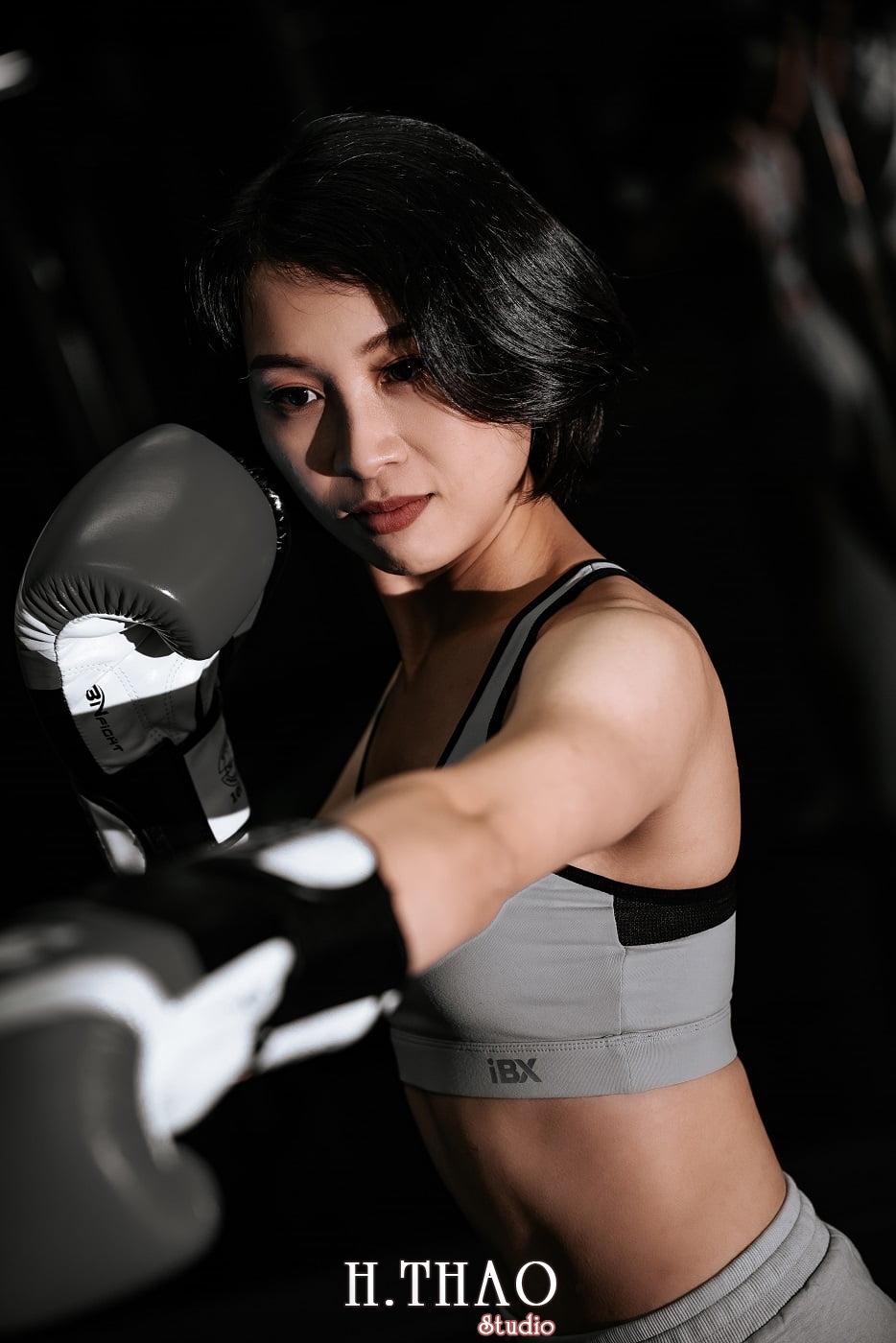 Anh chi Ngoc 31 min - Góc ảnh cô gái mạnh mẽ yêu thích Boxing – HThao Studio
