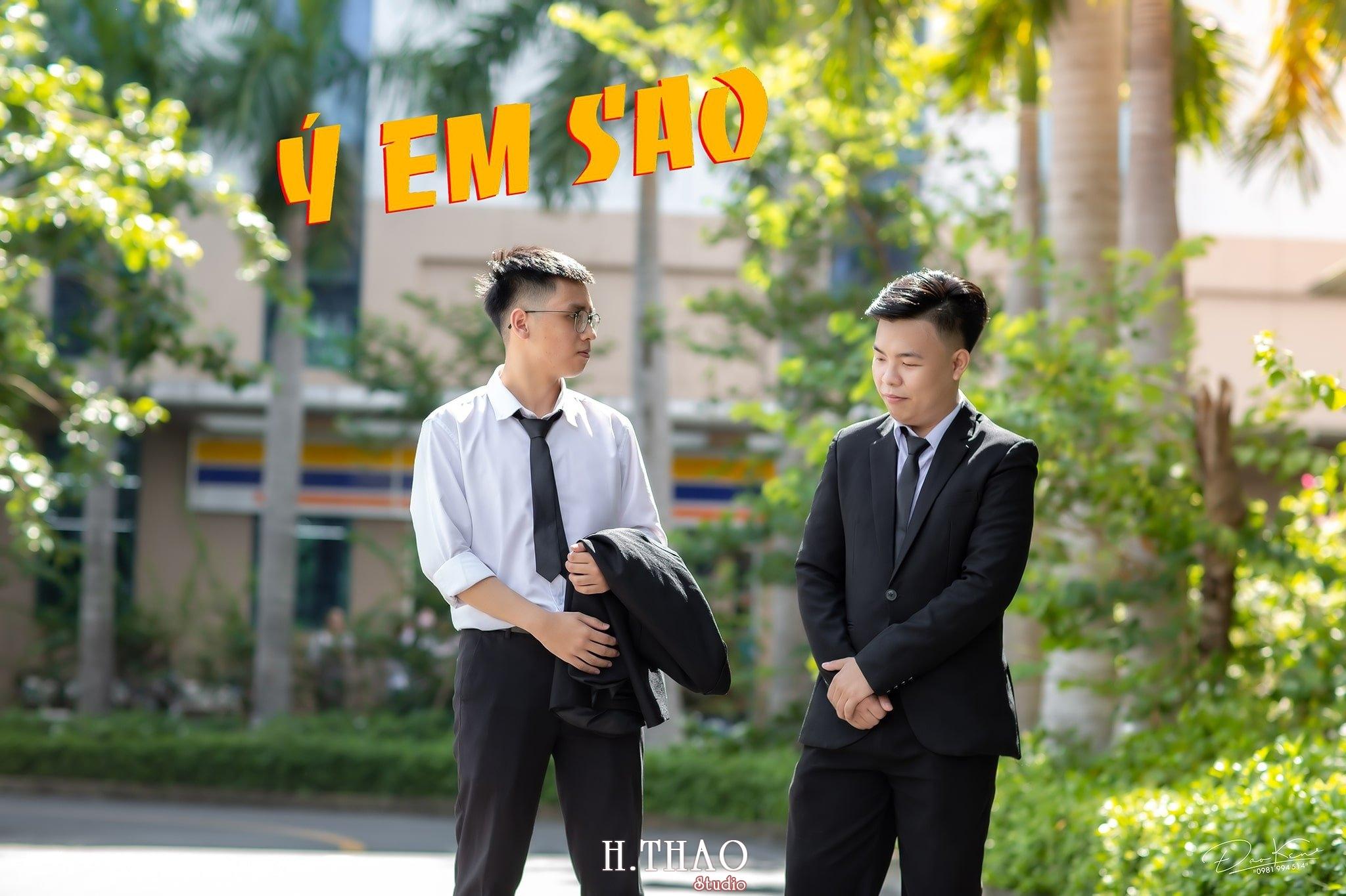 """Ky yeu lop 17C7 1 min - Bộ ảnh kỷ yếu """"siêu chất"""" của sinh viên HuTech - HThao Studio"""