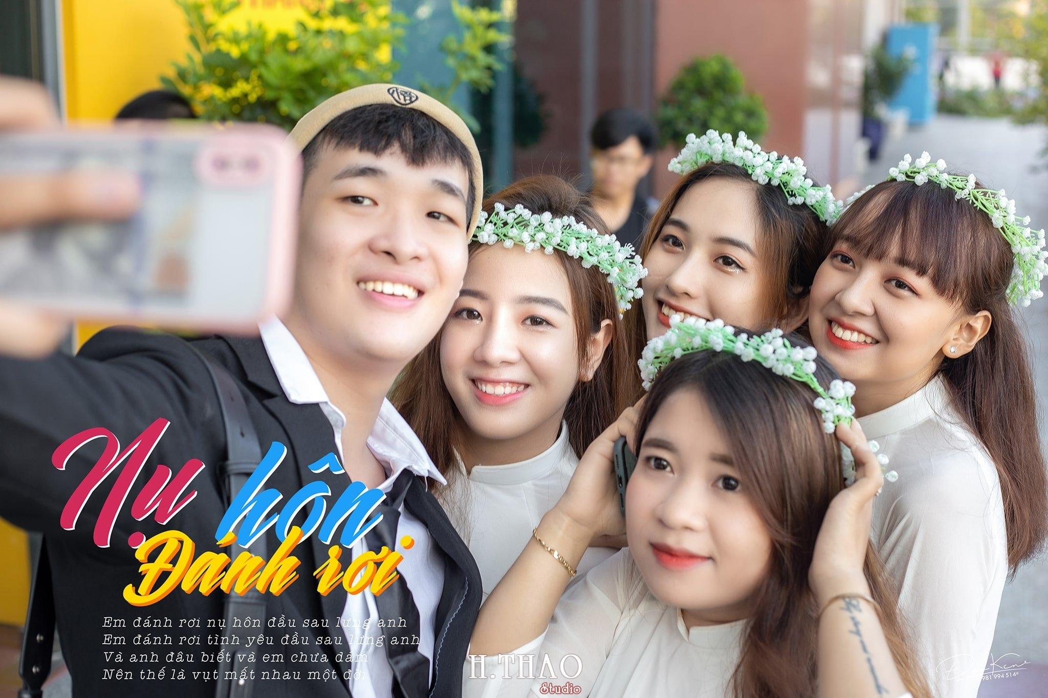 """Ky yeu lop 17C7 25 min - Bộ ảnh kỷ yếu """"siêu chất"""" của sinh viên HuTech - HThao Studio"""
