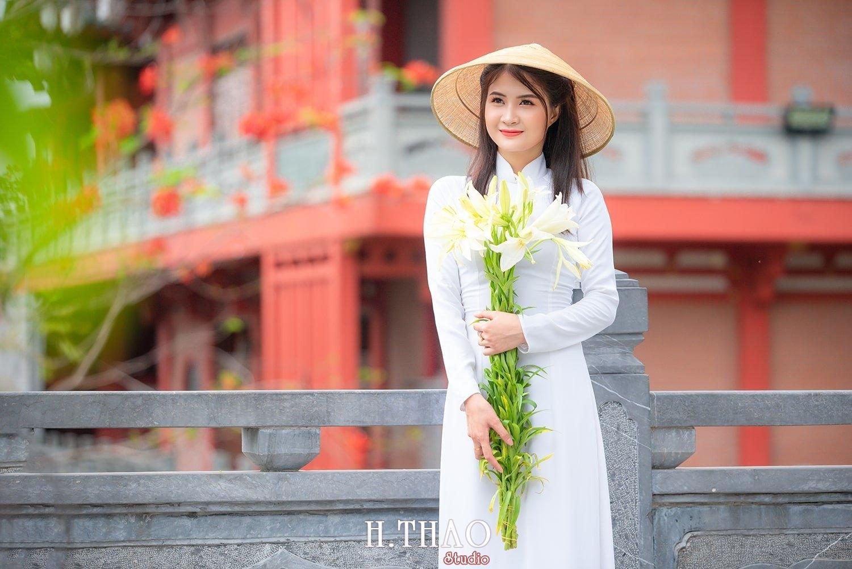 Ao dai hoa loa ken 16 1 - Địa điểm chụp ảnh áo dài đẹp ở Thành phố Hồ Chí Minh